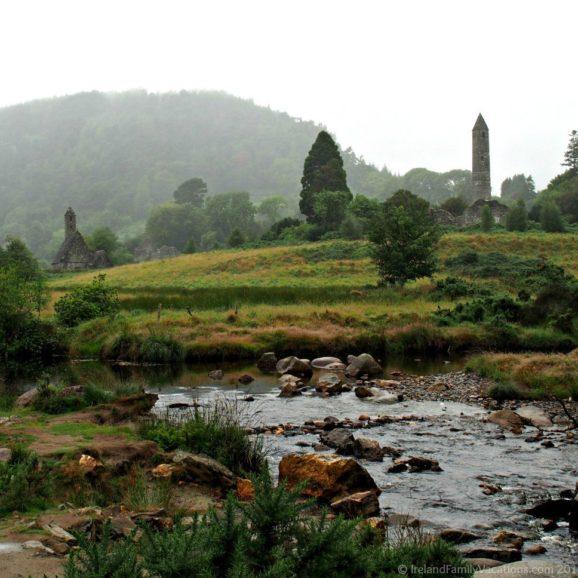 The Monastic City of Glendalough. Ireland vacation tips. Travel in Ireland.