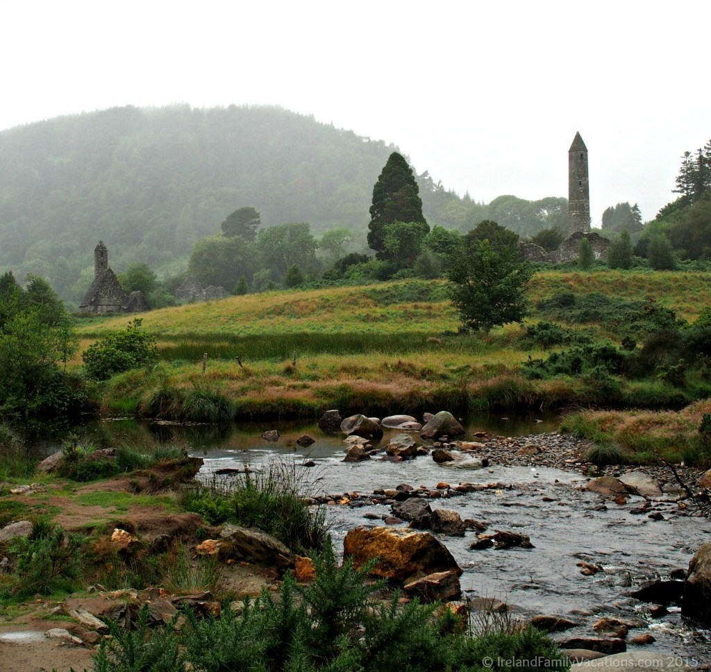The Monastic City of Glendalough. Ireland vacation tips. Travel in Ireland.