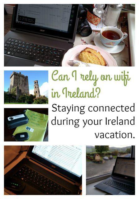 Using wifi in Ireland. Ireland travel tip. Ireland vacation advice.