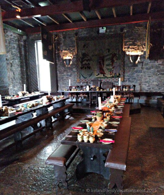 Medieval Banquet set up in Knappogue Castle, County Clare. Private Ireland Castle Stay. Ireland castle vacation.