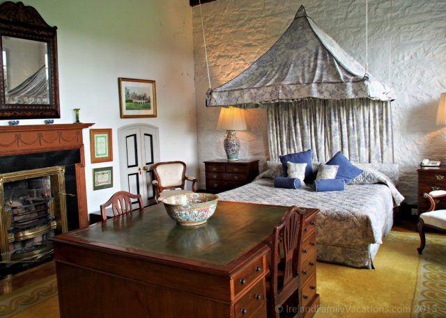 Master Suite in Knappogue Castle, County Clare. Private Ireland Castle Stay. Ireland castle vacation.
