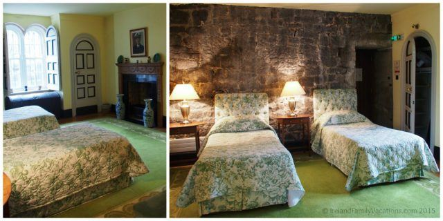Yellow Room in Knappogue Castle, County Clare. Private Ireland Castle Stay. Ireland castle vacation.