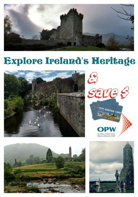Use the OPW Heritage Card to gain admission to all fee paying Office of Public Works sites in Ireland during your vacation. Ireland travel tips | save money in Ireland | IrelandFamilyVacations.com