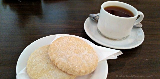 Tea and shortbread at Laragh Lodge Restaurant, Glenariff Waterfalls, Glens of Antrim, Northern Ireland. Ireland vacation | Ireland travel tips