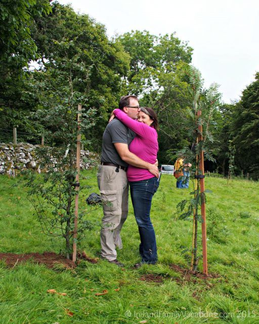 Trees planted on our own land in Ireland. Emerald Heritage, Glens of Antrim, Northern Ireland