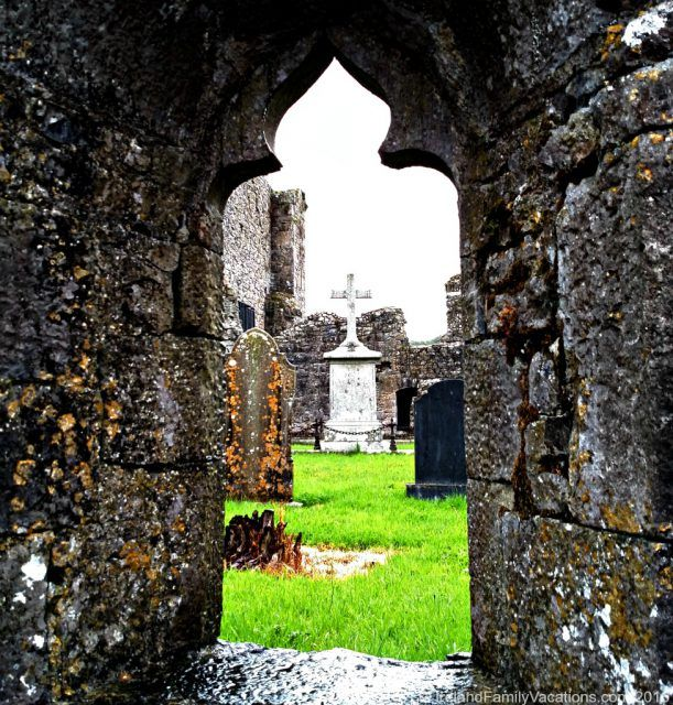 Athassel Priory in County Tipperary is far from any tourist spot and rarely visited. Our many thanks to Neil Jackman of Abarta Audio Guides for sharing the secrets of this ruin with us. Ireland travel | IrelandFamilyVacations.com
