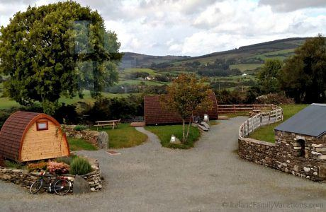 Pod Camping in Ireland at Top of the Rock Pod Pairc & Walking Centre in West Cork