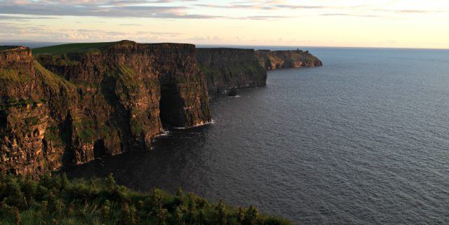The Cliffs of Moher looking south toward Hag's Head. Ireland vacation tips | Ireland vacation | IrelandFamilyVacations.com