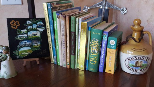 Just a few of my Ireland books. Ireland books for kids. IrelandFamilyVacations.com