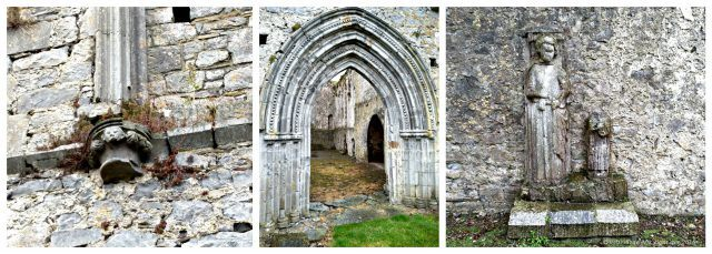 Carvings at Athassel Priory, Tipperary. Ireland travel tips | Ireland vacation | IrelandFamilyVacations.com