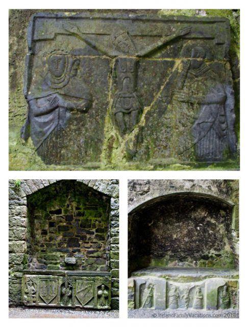 Carvings in the Rock of Cashel. Ireland travel tips | Ireland vacation |IrelandFamilyVacations.com