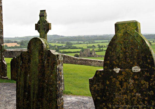 Hore Abbey taken from the Rock of Cashel, Tipperary. Ireland travel tips | Ireland vacation |IrelandFamilyVacations.com