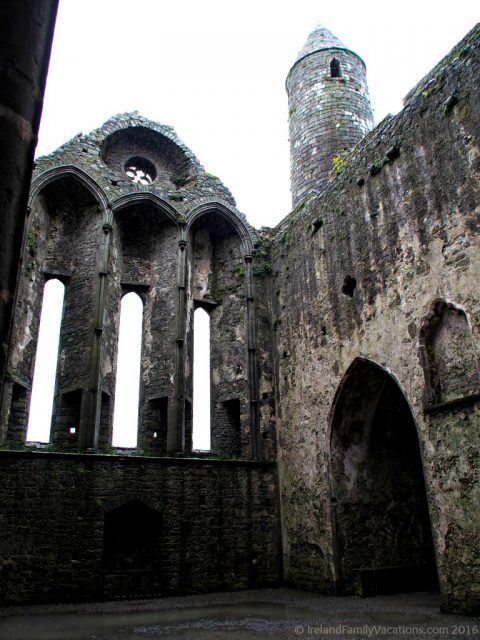 Interior at Rock of Cashel. Ireland travel tips | Ireland vacation |IrelandFamilyVacations.com