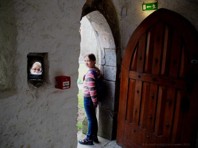 Medieval peep hole; Cahir Castle, County Tipperary. Ireland travel tips | Ireland Vacations | IrelandFamilyVacations.com