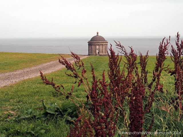 Mussenden Temple on Downhill Demense, County Derry, Northern Ireland. Ireland travel tips | Ireland vacation | IrelandFamilyVacations.com