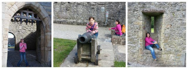 Fun photo opps at Cahir Castle, County Tipperary. Ireland travel tips | Ireland Vacations | IrelandFamilyVacations.com