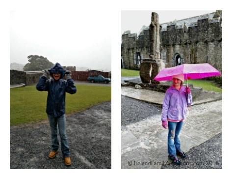 Don't let the rain keep you from visiting the Rock of Cashel. Ireland travel tips | Ireland vacation |IrelandFamilyVacations.com