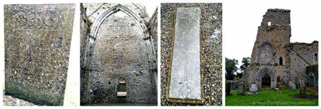 Ruins & Markers at Athassel Priory, Tipperary. Ireland travel tips | Ireland vacation | IrelandFamilyVacations.com