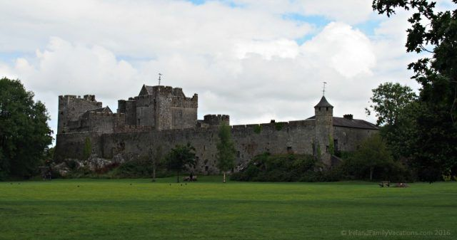 Cahir Castle from the Demense. County Tipperary. Ireland travel tips | Ireland Vacations | IrelandFamilyVacations.com