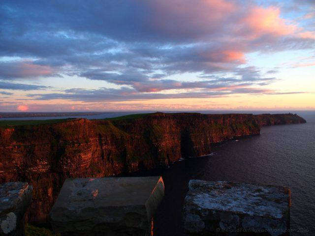 Sunset Visit to the Cliffs of Moher