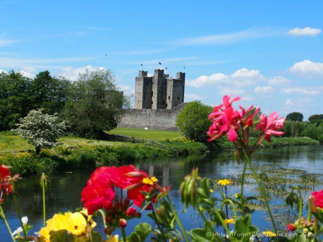 Trim Castle on a Sunny Day; County Meath, Ireland. Ireland travel tips | Ireland vacation |IrelandFamilyVacations.com