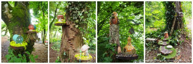 Whimsical fairy forest at Bunratty Castle & Folk Park. Ireland travel tips | Ireland vacation |IrelandFamilyVacations.com