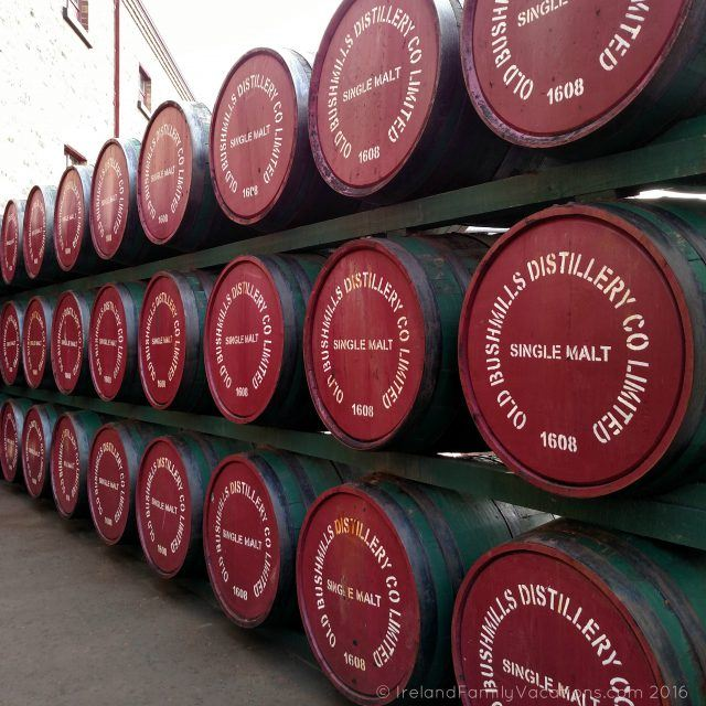 Casks at Bushmills. Ireland travel tips | Ireland vacation |IrelandFamilyVacations.com