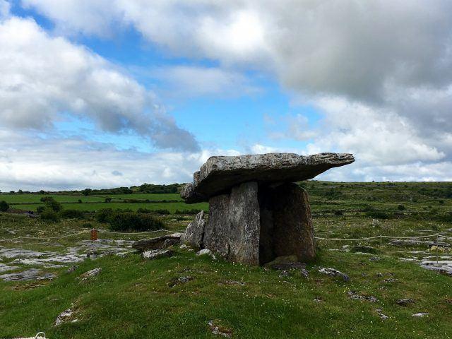 Poulnabrone Dolmen in the Burren, County Clare. Ireland travel tips | Ireland vacation |IrelandFamilyVacations.com