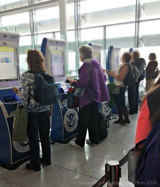 US Declarations kiosks at Dublin Airport. Ireland travel tips | Ireland vacation |IrelandFamilyVacations.com