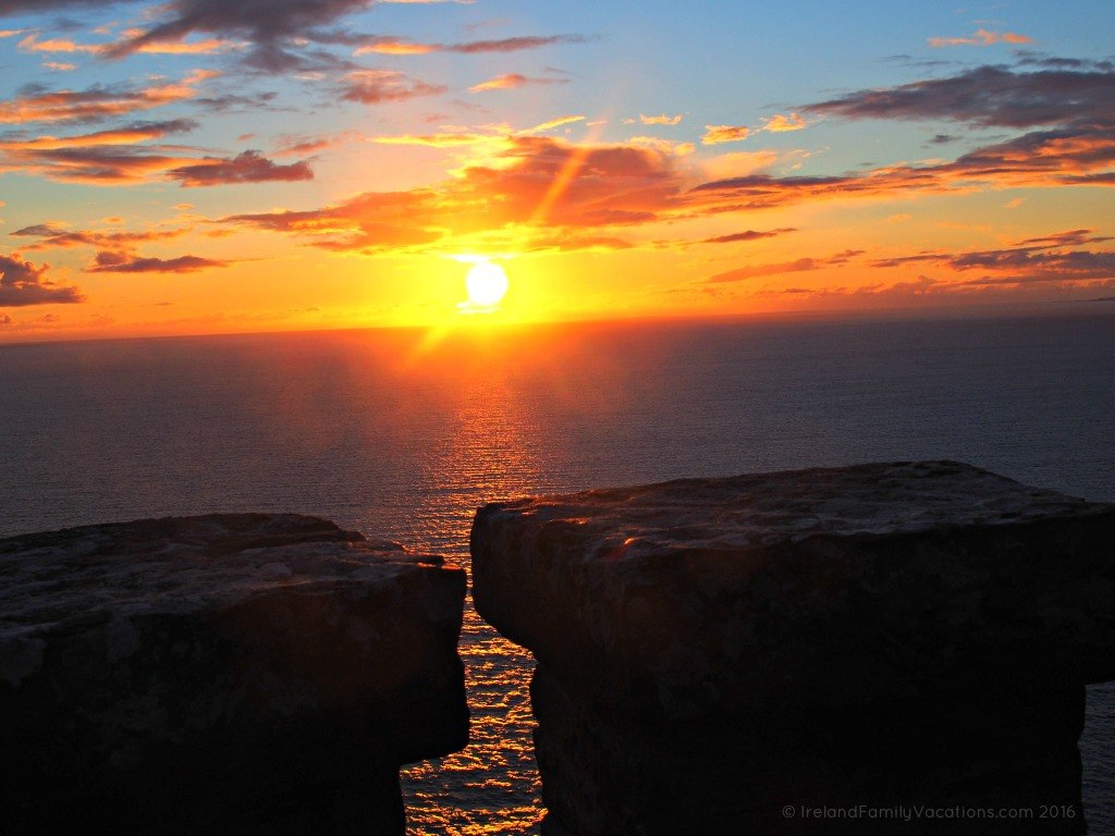 Sunset from the Cliffs of Moher
