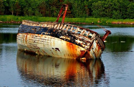 Derelict Boat in Sligo