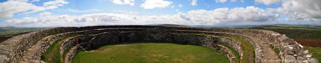 The Grianan of Aileach ring fort, County Donegal, the origins of which date to 1700BC. Ireland travel tips | Ireland vacation | IrelandFamilyVacations.com