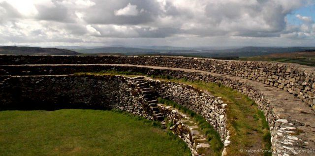 View from Grianan of Aileach ring fort, County Donegal, toward Lough Swilly. Ireland travel tips | Ireland vacation | IrelandFamilyVacations.com