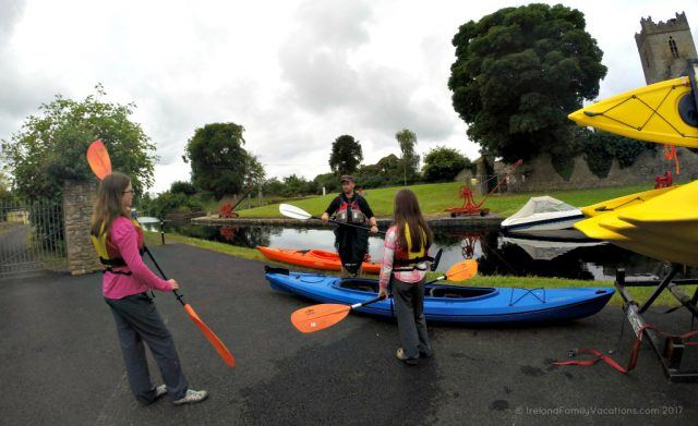 Kayak instruction with My Next Adventure. Kayaking in Killaloe along the River Shannon. Ireland travel tips | Ireland vacation | IrelandFamilyVacations.com