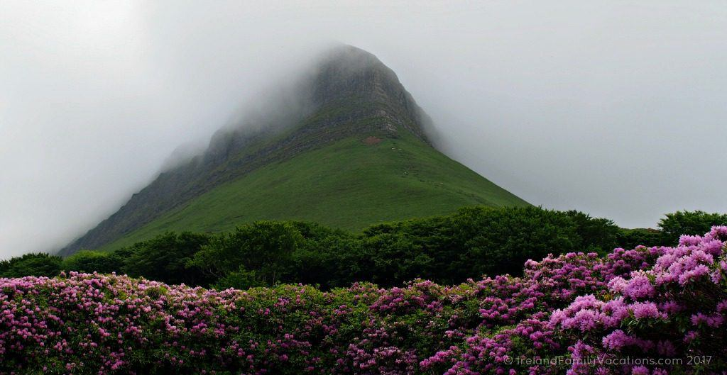 Heavy clouds atop Benbulben, County Sligo. Ireland travel tips | Ireland vacation | IrelandFamilyVacations.com
