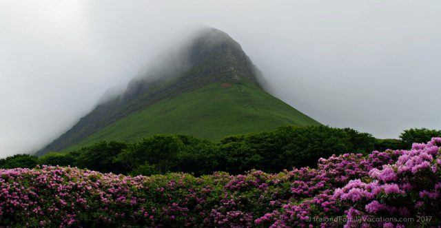 Heavy clouds atop Benbulben, County Sligo. Ireland travel tips | Ireland vacation | IrelandFamilyVacations.com