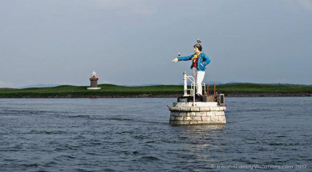 The Metal Man in Sligo Harbour. Ireland travel tips | Ireland vacation | IrelandFamilyVacations.com