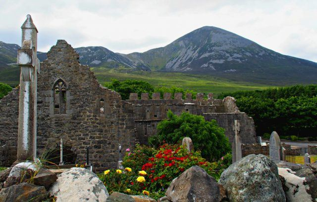 Murrisk Abbey near Croagh Patrick, County Mayo. Ireland travel tips | Ireland vacation | IrelandFamilyVacations.com