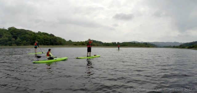 Stand Up Paddleboarding on Lough Gill with Northwest Adventure Tours. Ireland travel tips | Ireland vacation | IrelandFamilyVacations.com