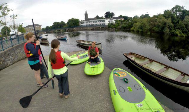 Learning to Stand Up Paddleboard with Northwest Adventure Tours in Sligo. Ireland travel tips | Ireland vacation | IrelandFamilyVacations.com