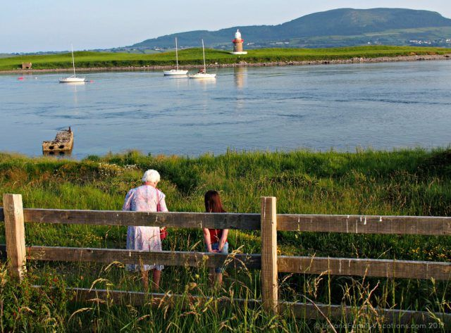 An evening chat in Rosses Point. Ireland travel tips | Ireland vacation | IrelandFamilyVacations.com
