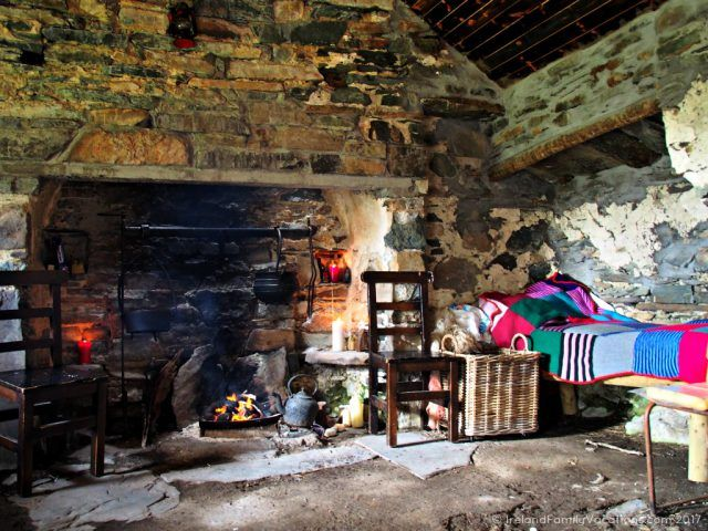 Restored famine era cottage in County Mayo. Ireland travel tips | Ireland vacation | IrelandFamilyVacations.com