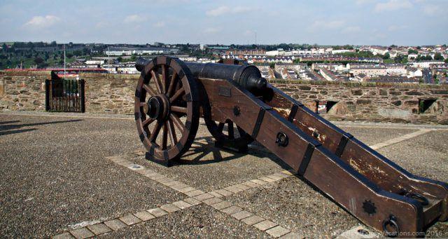 Cannon on the Derry City Wall, Northern Ireland. Ireland travel tips | Ireland vacation | IrelandFamilyVacations.com