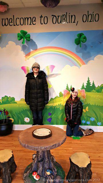 Fairy fun at the Dublin, Ohio visitor center. Irish culture in the US via IrelandFamilyVacations.com