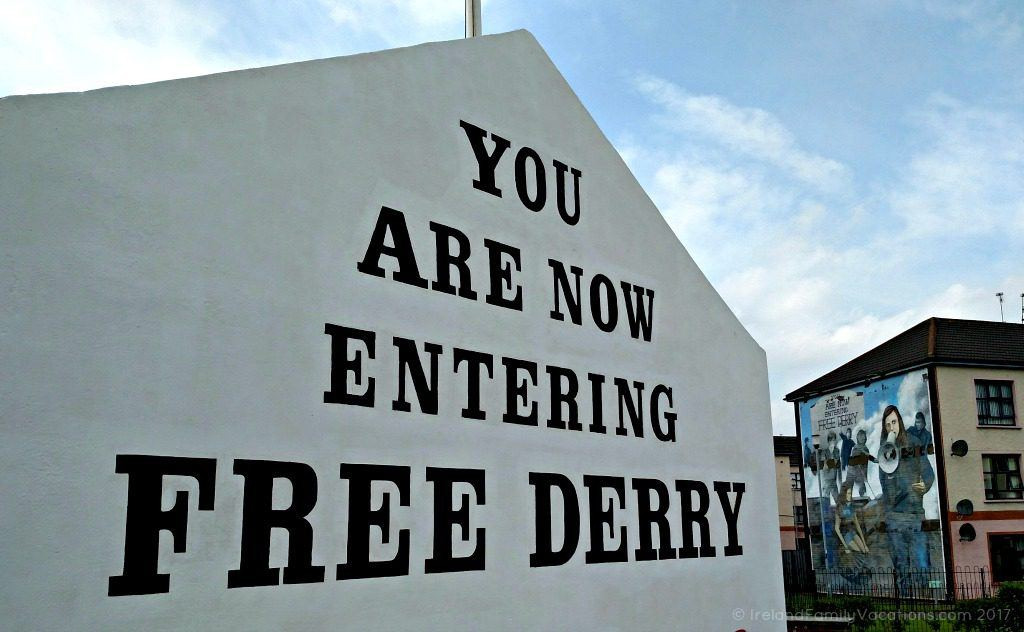Free Derry Wall, the Bogside, Derry city, Northern Ireland. Ireland travel tips | Ireland vacation | IrelandFamilyVacations.com
