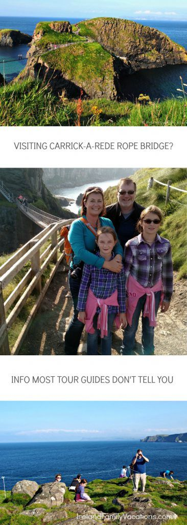 What Most Tourist Guides Don't Tell You About Visiting Carrick-a-Rede Rope Bridge. Ireland travel tips | Ireland vacation | IrelandFamilyVacations.com