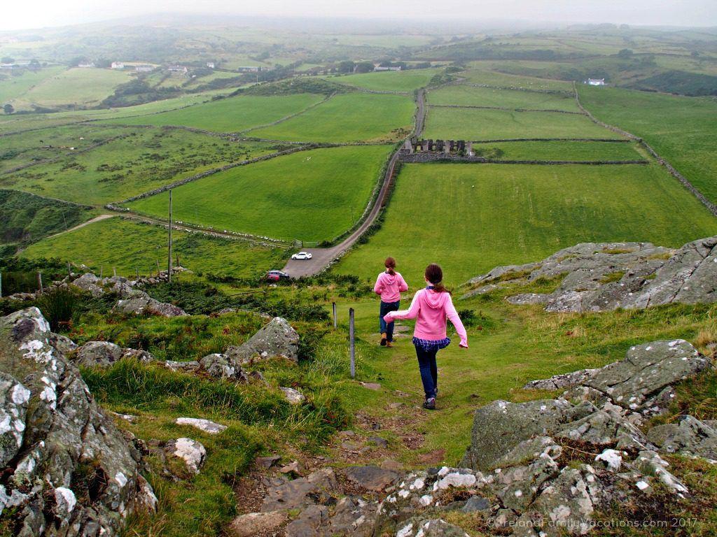 Descending Torr Head along Northern Ireland's Causeway Coastal Route. Ireland travel tips | Ireland vacation | IrelandFamilyVacations.com