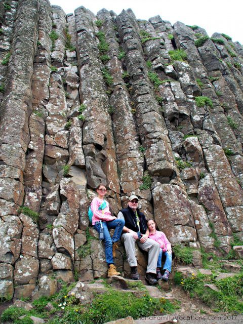 Tall basalt columns at the Giant's Causeway. Ireland travel tips | Ireland vacation | IrelandFamilyVacations.com