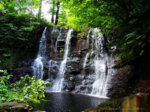 Waterfall in Glenariff Forest Park in the Glens of Antrim, a short detour from Northern Ireland's Causeway Coastal Route. Ireland travel tips | Ireland vacation | IrelandFamilyVacations.com