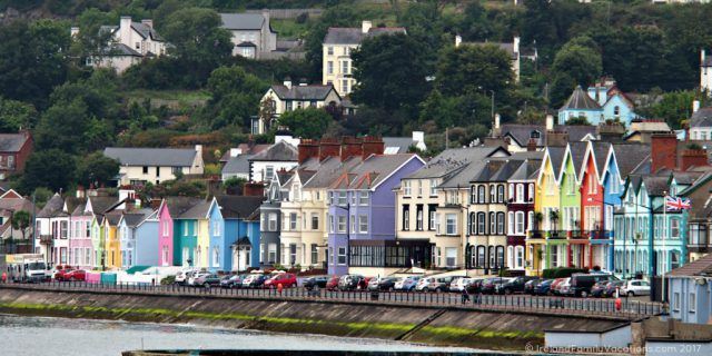 Victorian townhouses line the promenade in Whitehead, County Antrim, along Northern Ireland's Causeway Coastal Route. Ireland travel tips | Ireland vacation | IrelandFamilyVacations.com